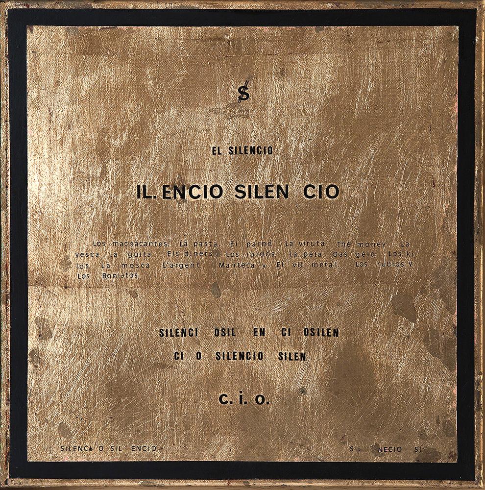 SILENCIO - Pan de oro y Ac/Lz - 30x30 cm - 2001 - Jávea.