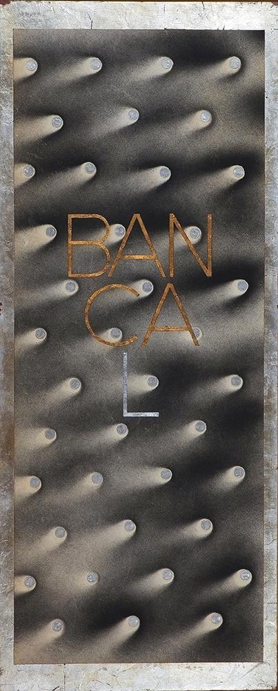 BANCAL - Pan de oro, plata, metal y Mx./Tb - 100x40 cm - 2001 - Jávea