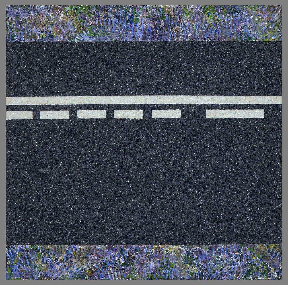 FANECADES DE L´OR - Polvo de mármol, carborumdum y Ol./Lz - 30x30 cm - 2001 - Jávea.