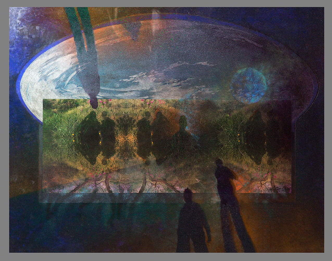 SUEÑO - Collage, pigmentos, arena, Mx/Tb - 46x58 cm - 2002 - Jávea.