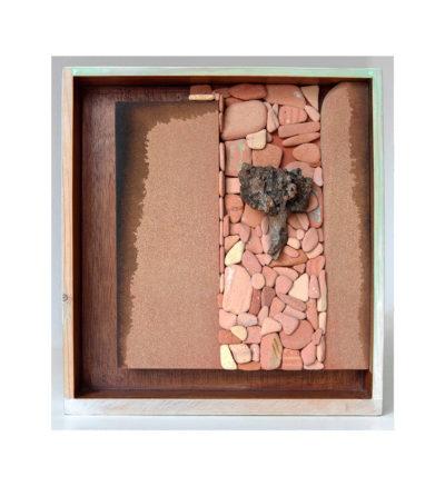 CAMINO ANTIGUO A - 39x42x11 cm - Reciclaje y Ensamblado - Serie Poemas Visuales - Proyecto S.O.S.tenible - 2013 - Gata de Gorgos.