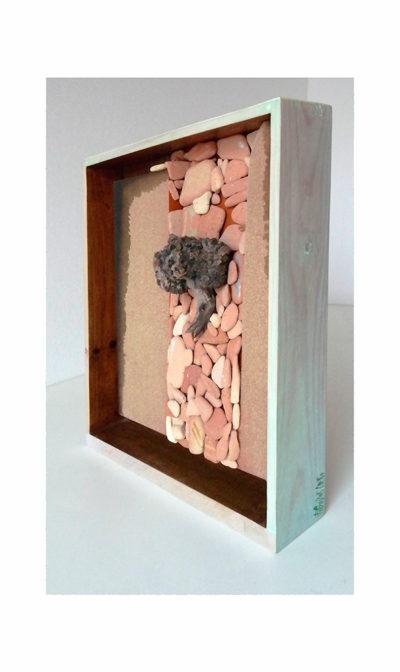 CAMINO ANTIGUO B - 39x42x11 cm - Reciclaje y Ensamblado - Serie Poemas Visuales - Proyecto S.O.S.tenible - 2013 - Gata de Gorgos.