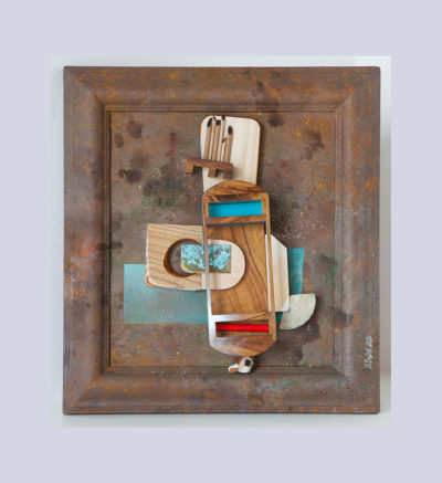 ESPAÑA CAÑÍ I A - 57,5x52x8,5 cm - Reciclaje y Ensamblado - Serie Sociedad Anónima - Proyecto S.O.S.tenible - 2013 - Gata de Gorgos.