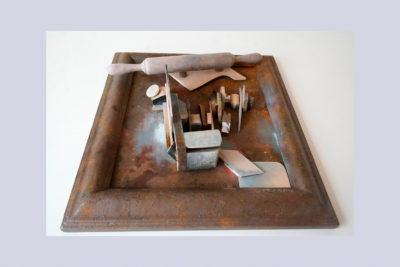 ESPAÑA CAÑÍ II D - 57,5x52x13 cm -  Reciclaje y Ensamblado -  Serie Sociedad Anónima - Proyecto S.O.S.tenible - 2013 - Gata de Gorgos.
