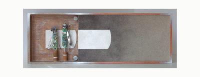 ETNICO C - 39x114x11 cm - Reciclaje y Ensamblado -  Serie Sociedad Anónima -  Proyecto S.O.S.tenible - 2015 - Gata de Gorgos.