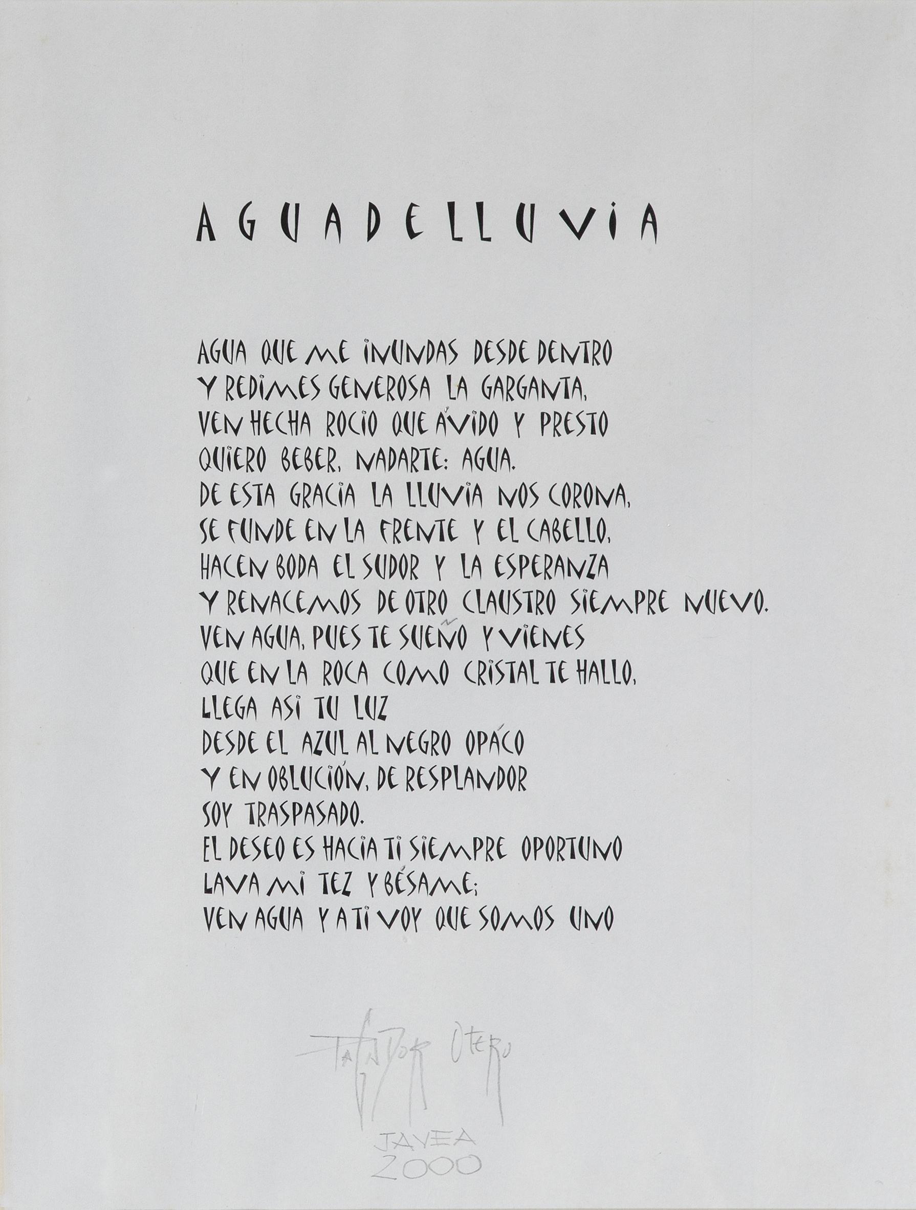 """""""AGUA DE LLUVIA"""" – 1997"""
