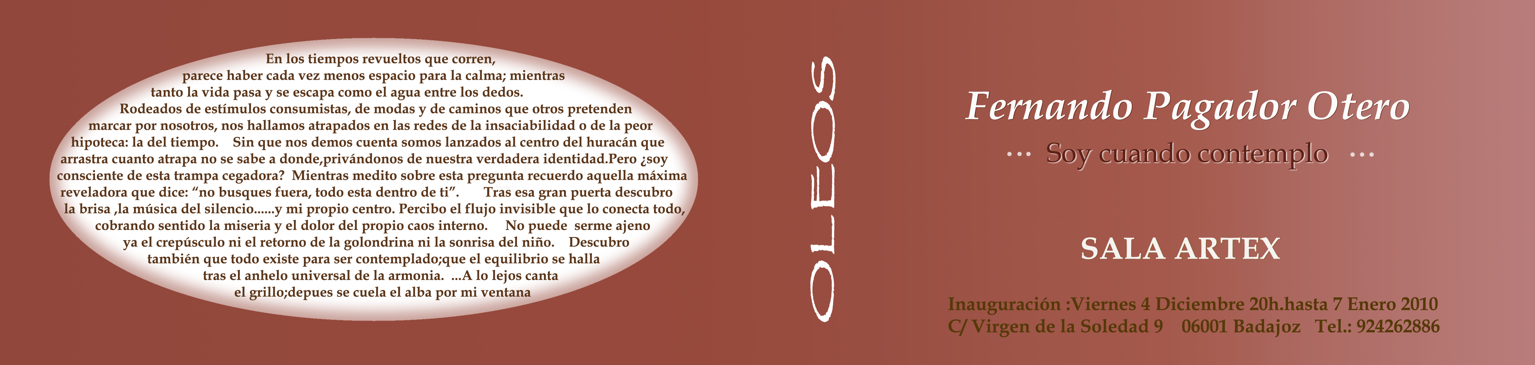"""""""SOY CUANDO CONTEMPLO"""" – 2007"""