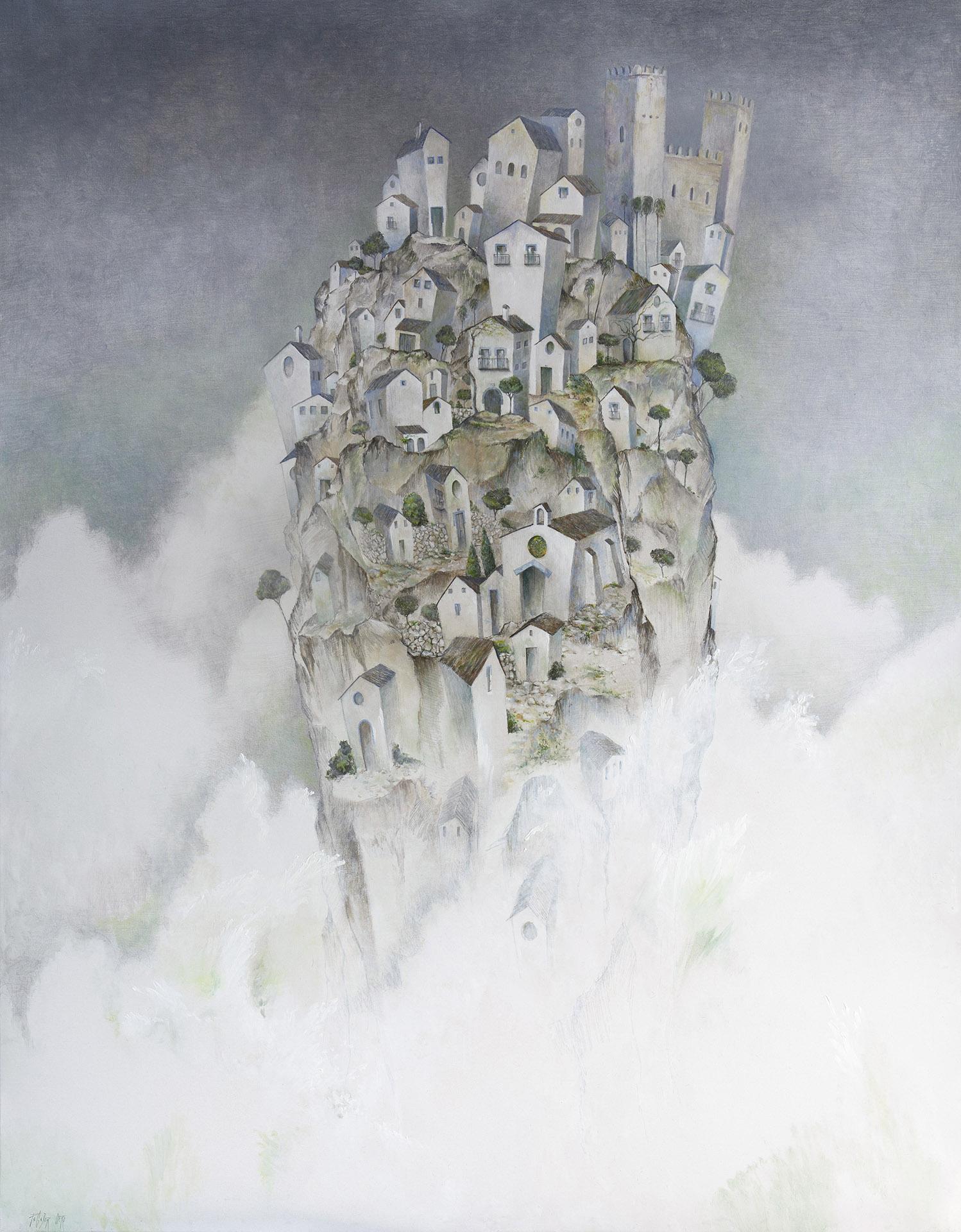 """""""GRAN OLA""""  Oleo S/Lienzo  154x120 cm. 2020 Gata de Gorgos"""