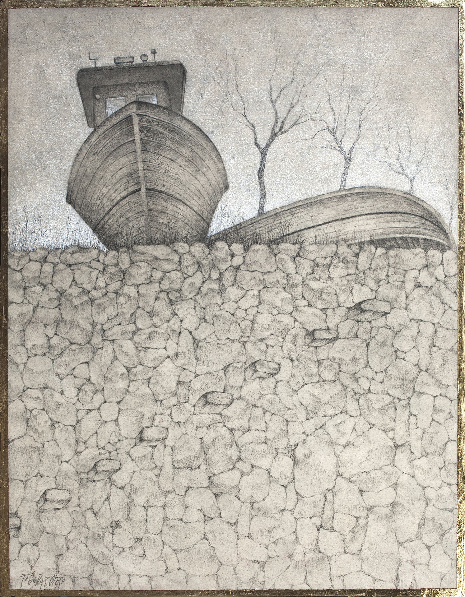 """INSOLITO""  Grafito y Tiza S/Tabla  50x38 cm. 2020 Gata de Gorgos"