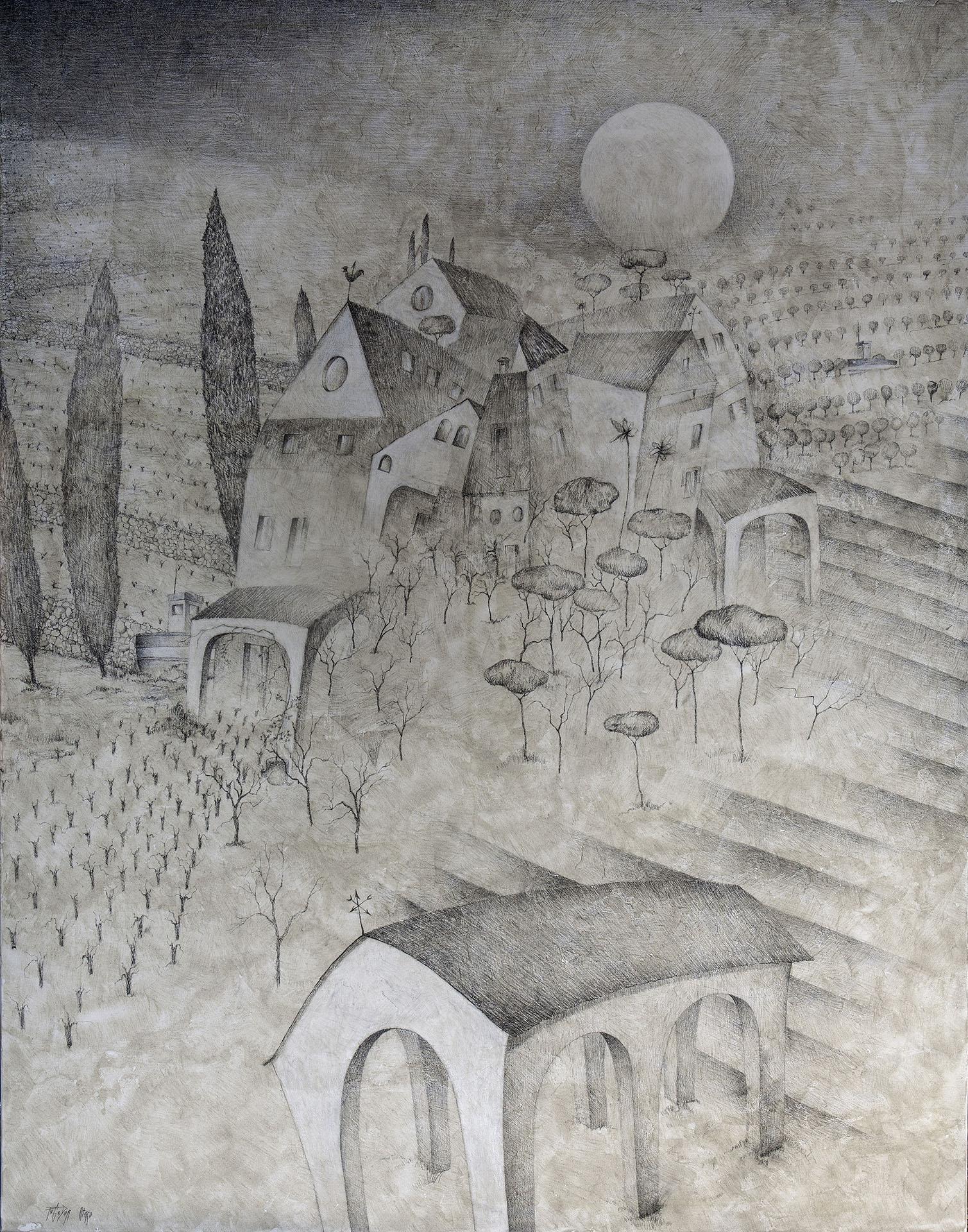 """MARINA ALTA II""  Grafito y Tiza S/Lienzo  154x120 cm. 2019 Gata de Gorgos"