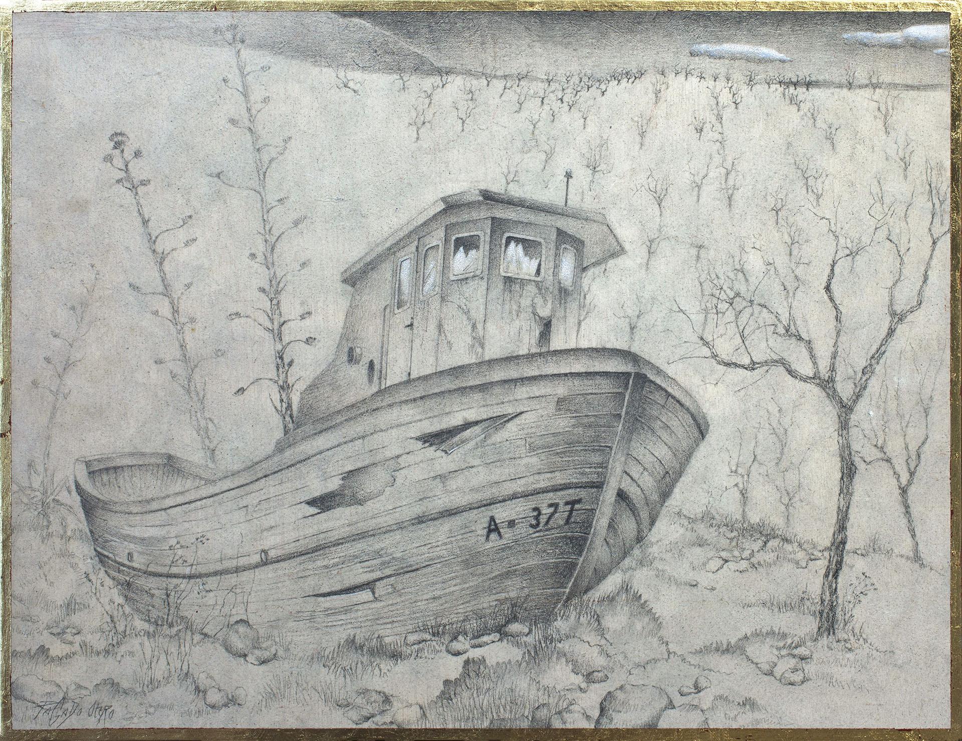 """VIEJA HISTORIA""  Grafito y Tiza S/Tabla  38x50 cm. 2020 Gata de Gorgos"